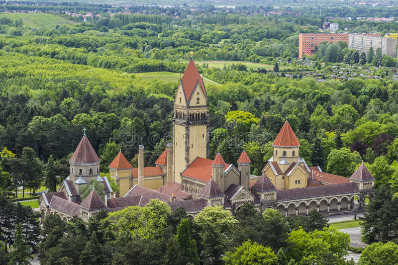 The crematorium of Leipzig stock photo