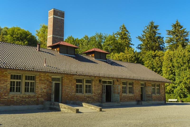 Crematorium od Dachau koncentracyjnego obozu, Niemcy zdjęcia royalty free