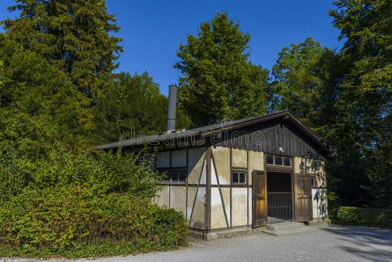 Crematorium od Dachau koncentracyjnego obozu, Niemcy fotografia royalty free