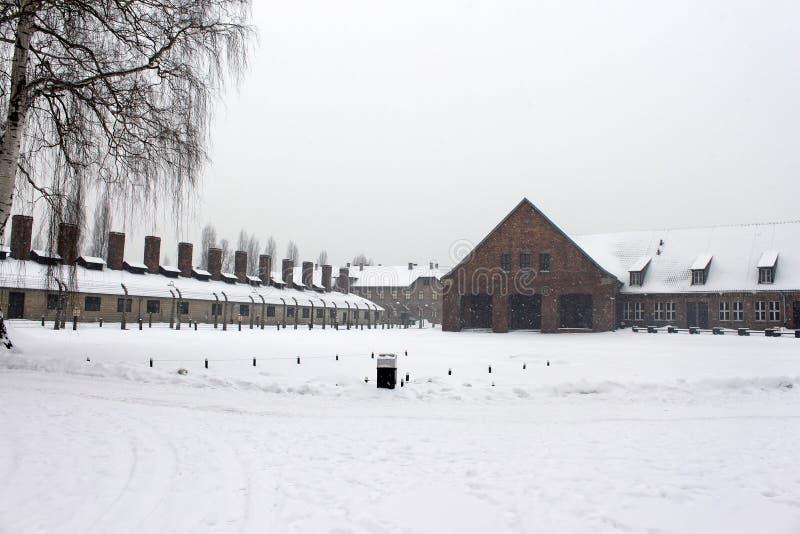 Crematorium opuszczać w Auschwitz koncentracyjnym obozie był siecią koncentracji i eksterminacji obozy fotografia royalty free