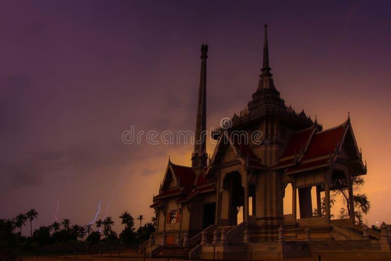 Crematorium. Thai Crematorium building on evening stock images