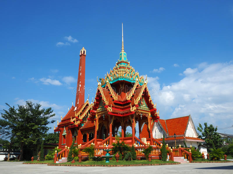 Crematorium at Thai temple stock images