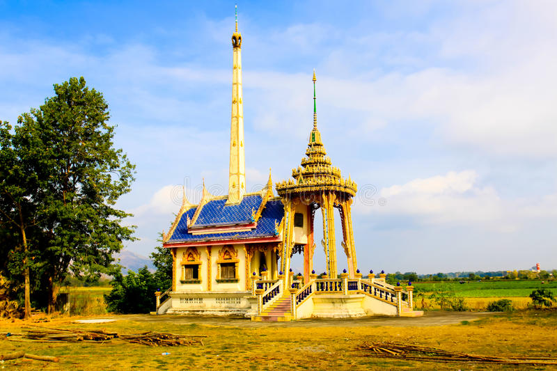 Crematory inside local wat Thai royalty free stock photos