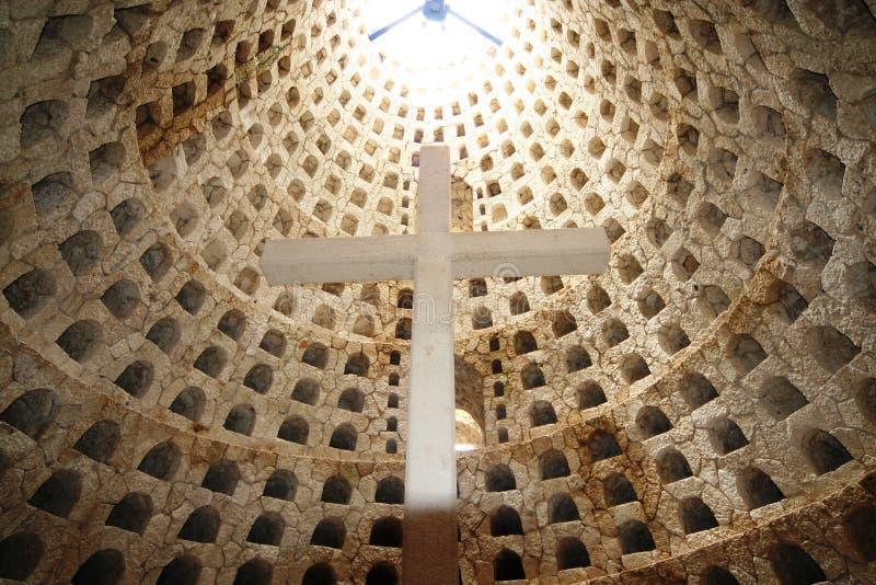 Crematory mexicano, storehouse para o urn fotografia de stock