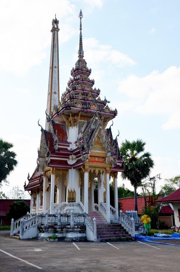 Cremazione del rogo funereo di Wat Phra That Suthon Mongkhon Khiri fotografia stock
