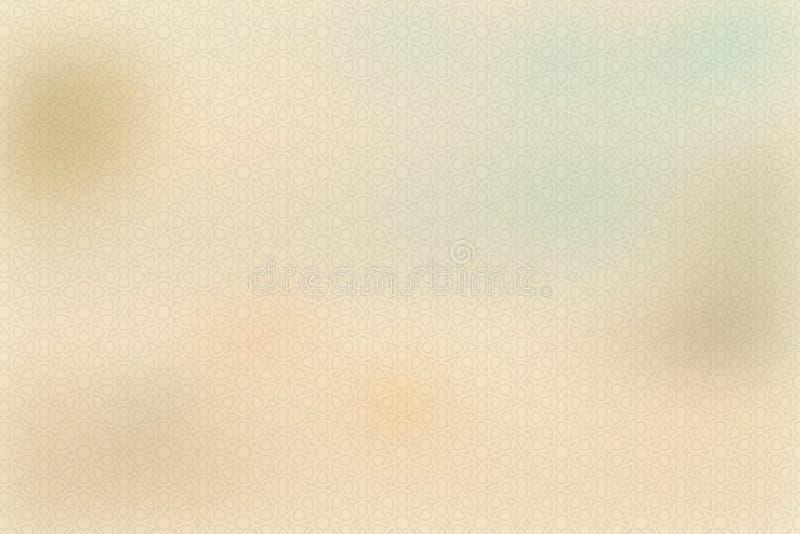 Creme amarelo do vintage ou cor bege, papel de pergaminho, inclinação pastel abstrato do ouro com fundo marrom, contínuo do Web s imagem de stock