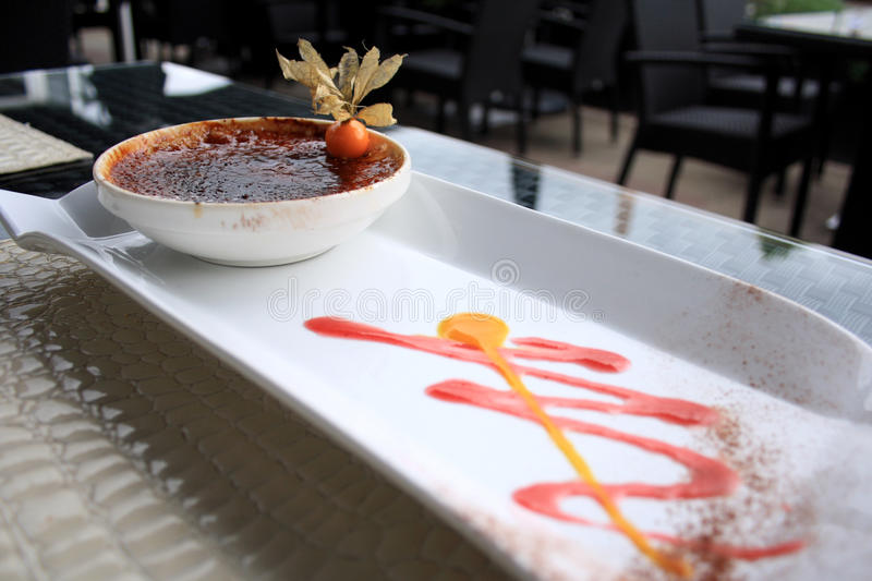 Creme brulee royalty free stock images