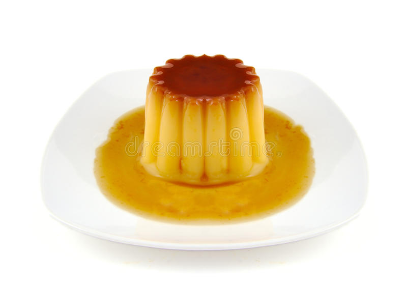 Creme caramel, caramel custard or custard pudding royalty free stock photos