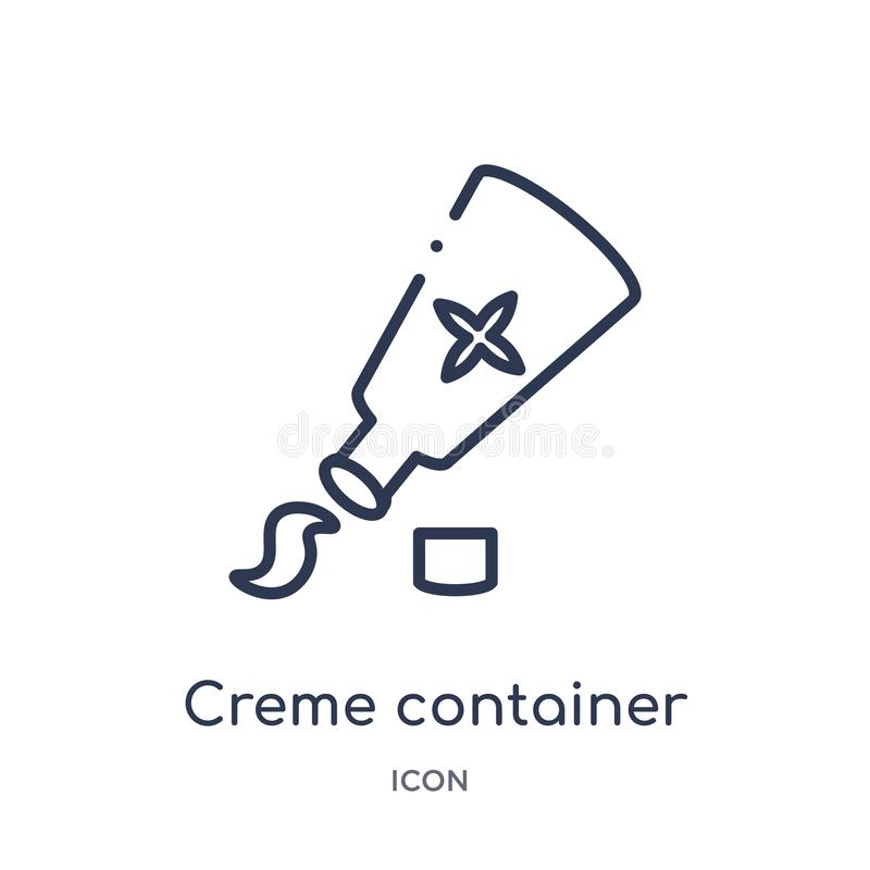 Creme container black? icon from woman clothing outline collection. Thin line creme container black? icon isolated on white. Background vector illustration