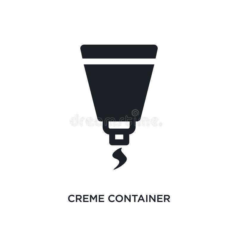 Creme container black isolated icon. simple element illustration from woman clothing concept icons. creme container black editable. Logo sign symbol design on royalty free illustration