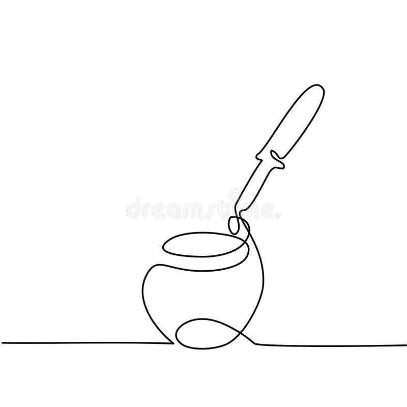Creme cosmético com pipeta ilustração stock