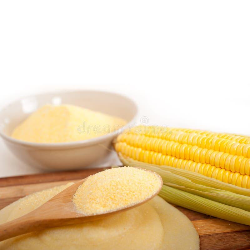 Creme da farinha dos mais do milho do Polenta imagem de stock royalty free