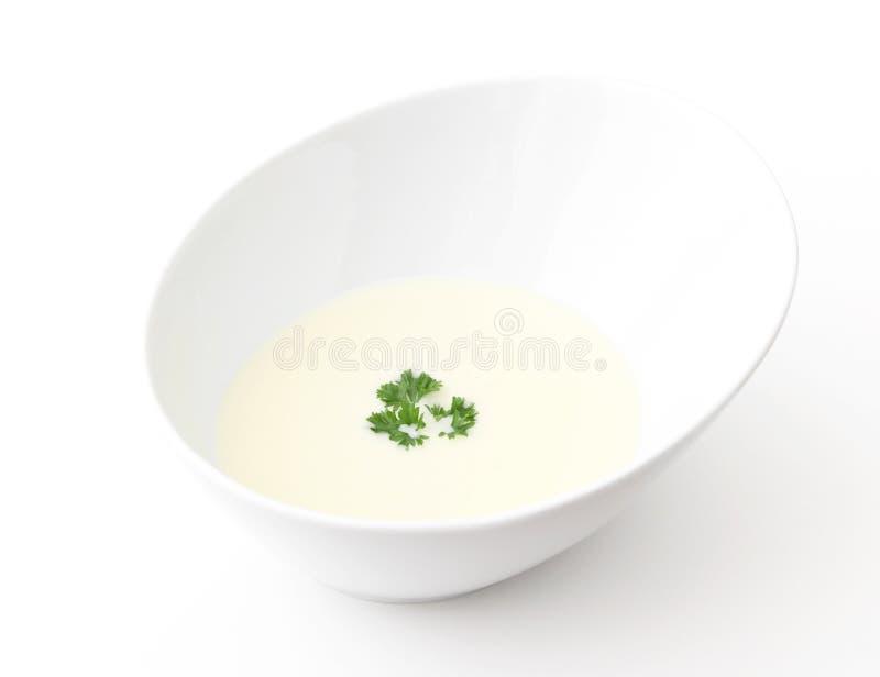 Creme da sopa da couve-flor fotos de stock