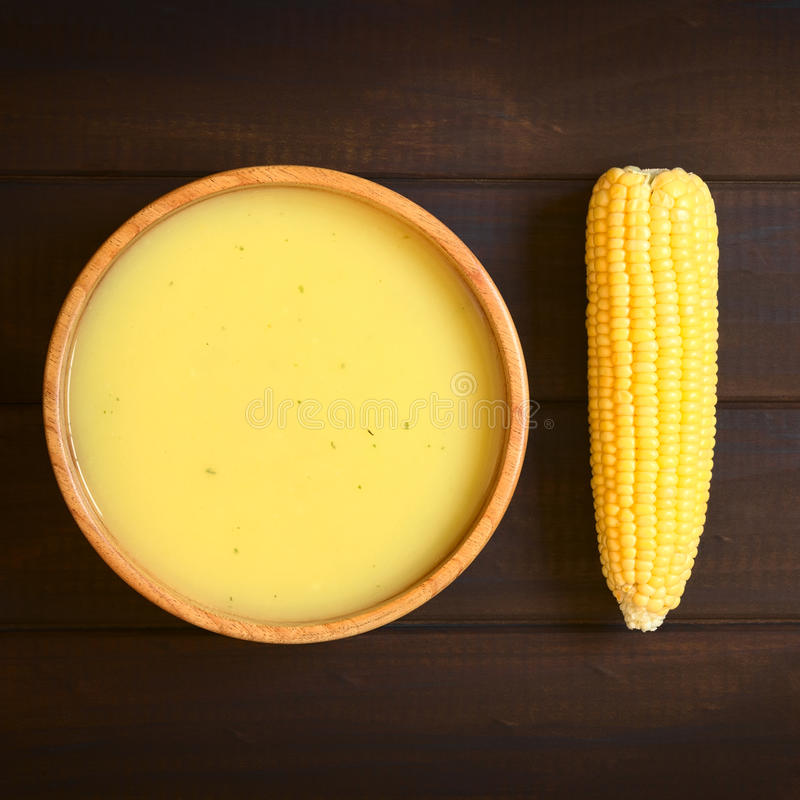 Creme da sopa do milho fotografia de stock