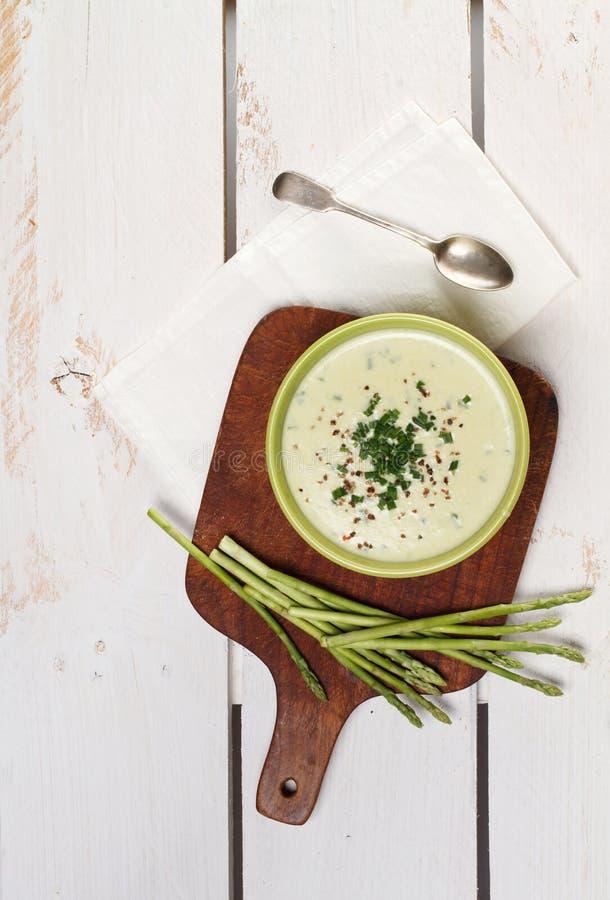 Creme da sopa dos espargos imagem de stock royalty free