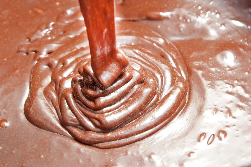 Creme do chocolate imagens de stock