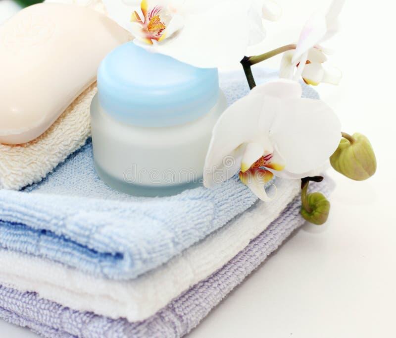 creme ręczniki zdjęcie royalty free