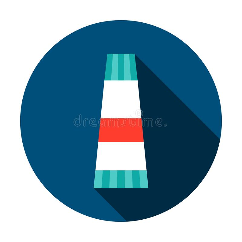 Creme Tube Circle Icon. Vector Illustration with Long Shadow. Medicine Item stock illustration