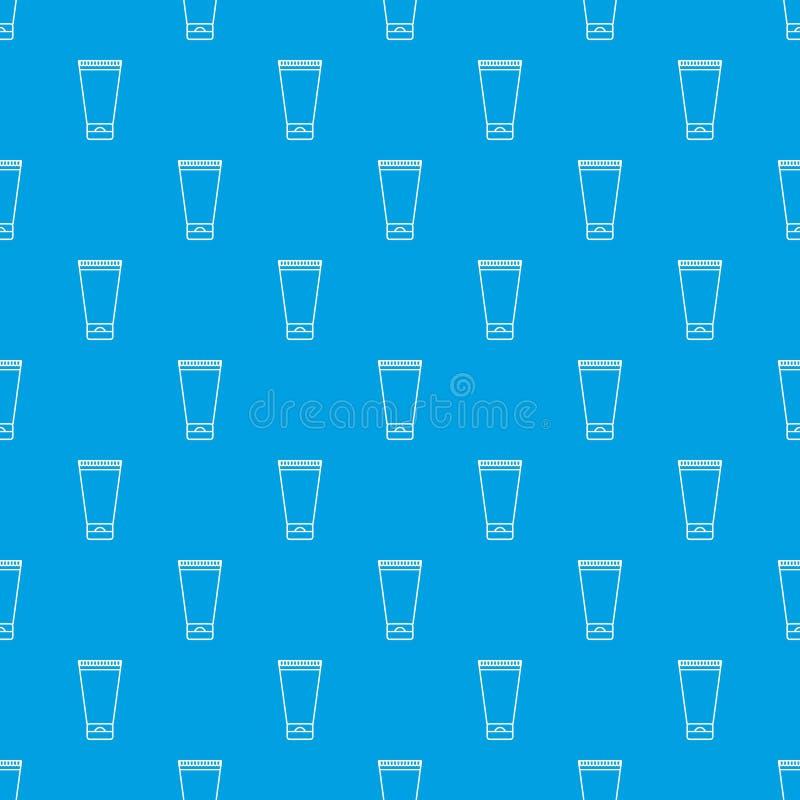 Creme tubki wzoru wektorowy bezszwowy błękit ilustracji
