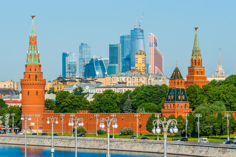 Cremlino di Mosca e la città immagine stock