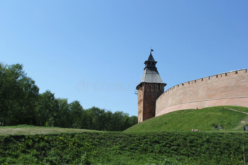 Cremlino in Velikiy Novgorod immagini stock libere da diritti