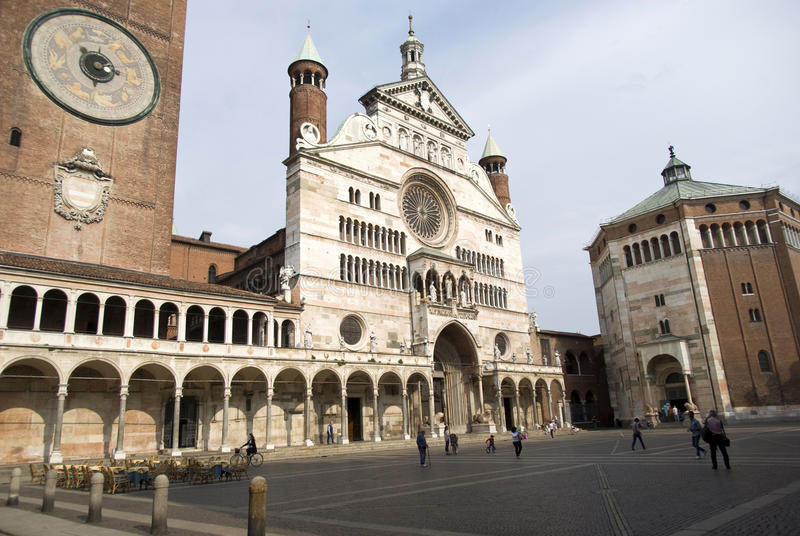 Cremona Cathedral stock image