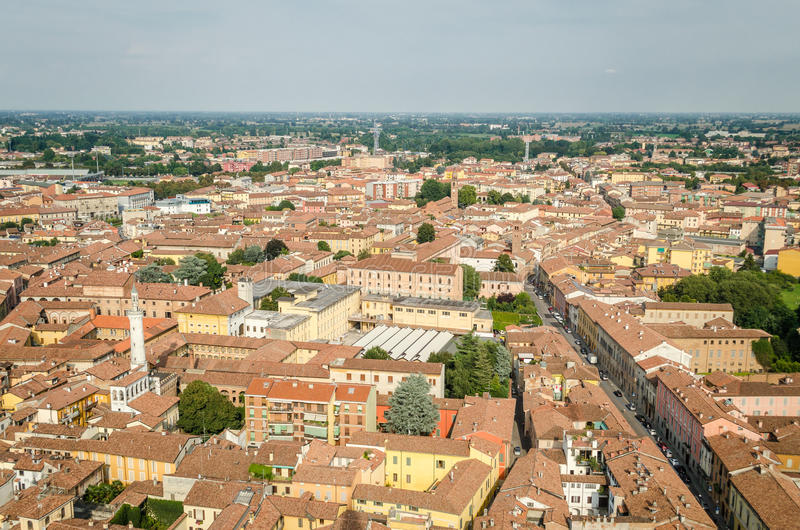 Cremona, Italy, panorama from the Torrazzo stock photo