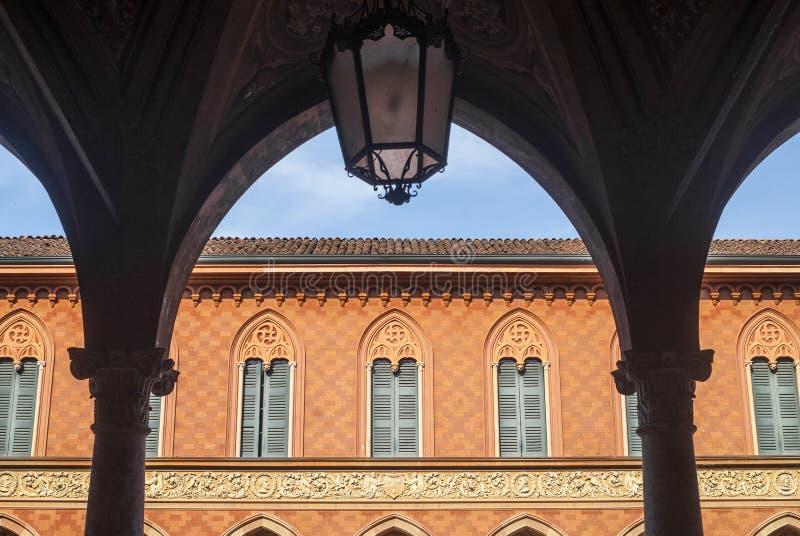 Download Cremona, Palazzo Trecchi stock photo. Image of column - 28558650