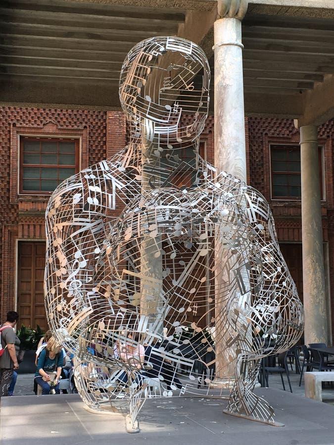 Cremona Włochy rzeźba obraz stock