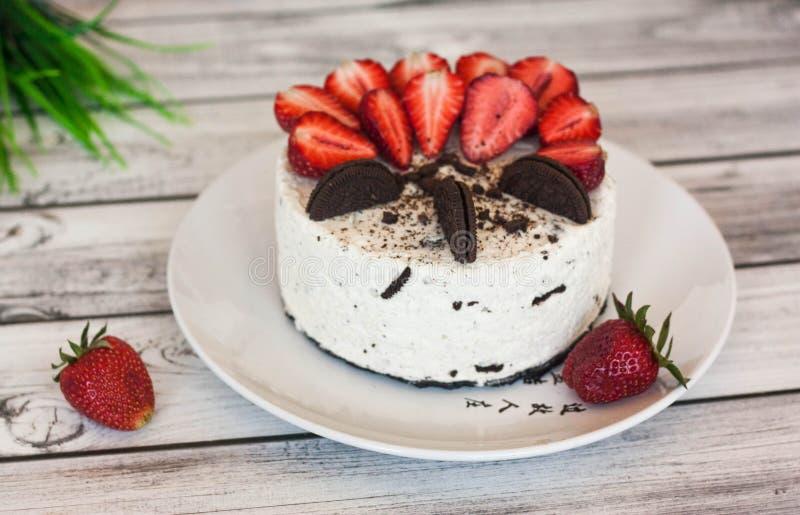 Cremy Oreo cheesecake imagem de stock
