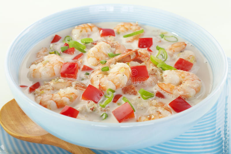 Creole Coconut Prawn Soup Caribbean Food Royalty Free Stock Photo