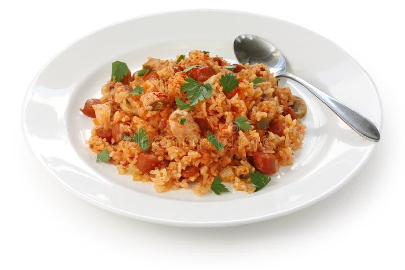 creole naczynia jambalaya ryż zdjęcia stock