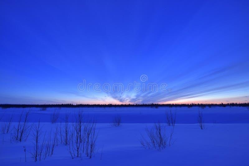 Crepúsculo ártico imágenes de archivo libres de regalías