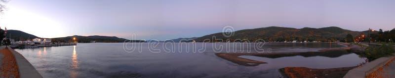 Crepúsculo de George del lago fotografía de archivo