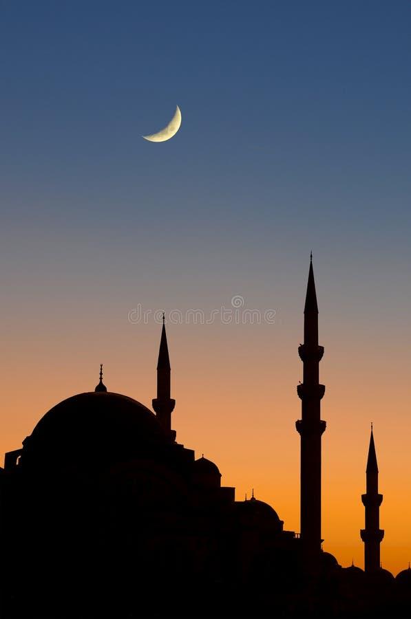 Crepúsculo de Istambul fotografia de stock royalty free
