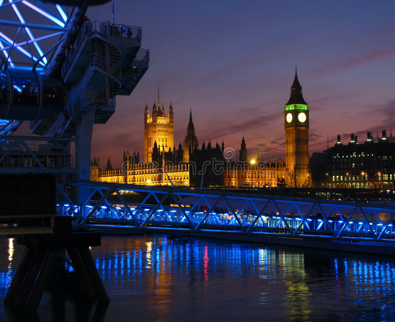Crepúsculo de Londres, Reino Unido foto de archivo