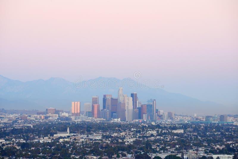 Crepúsculo de Los Angeles fotos de stock royalty free