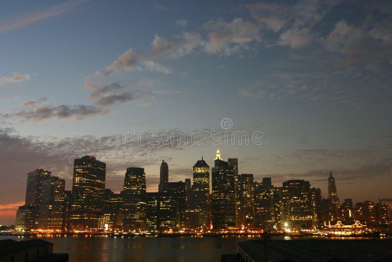 Crepúsculo de Manhattan imagenes de archivo