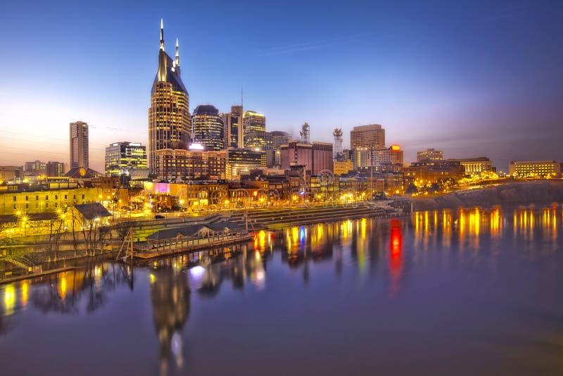 Crepúsculo de Nashville, Tennessee fotografía de archivo
