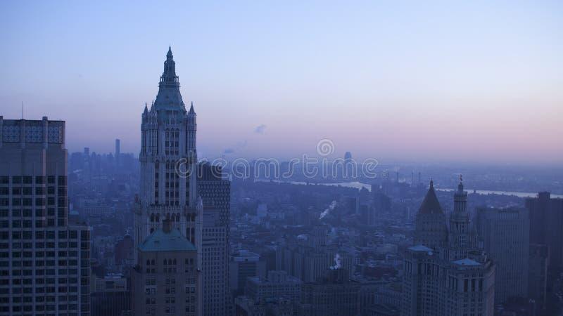 Crepúsculo de Nueva York foto de archivo