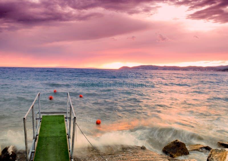 Crepúsculo do mar imagem de stock royalty free