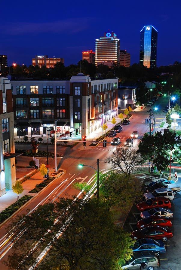 Crepúsculo em Lexington Kentucky imagens de stock