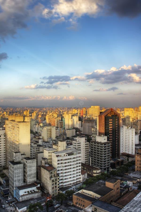 Crepúsculo em Sao Paulo imagem de stock royalty free