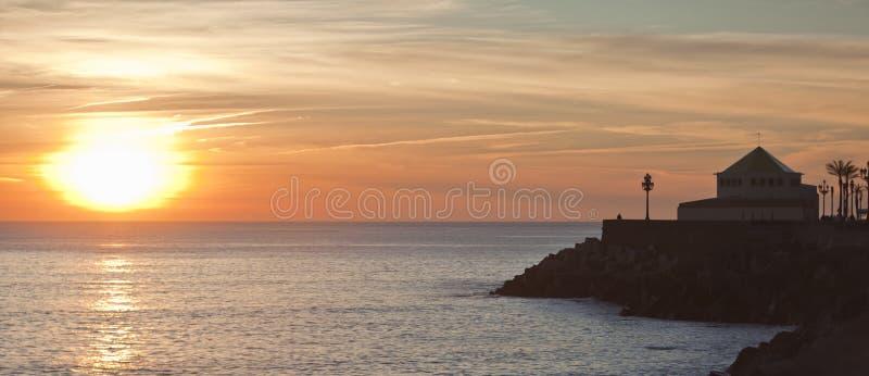 Crepúsculo em Spain 2. foto de stock
