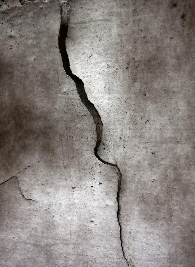Crepa a cemento fotografie stock libere da diritti