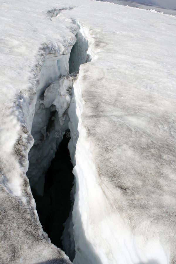 Crepa del ghiacciaio immagini stock