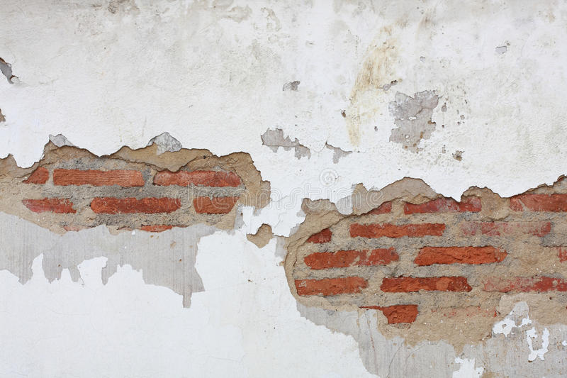 Crepa del muro di mattoni immagini stock