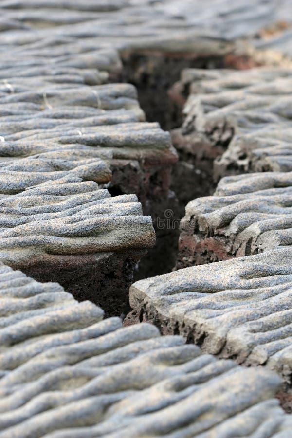 Crepa della lava fotografia stock libera da diritti