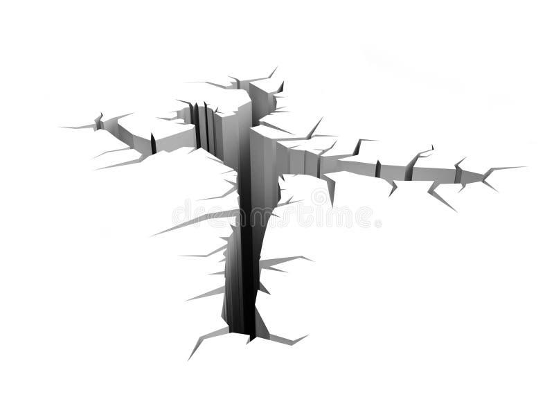 Crepa della terra illustrazione di stock