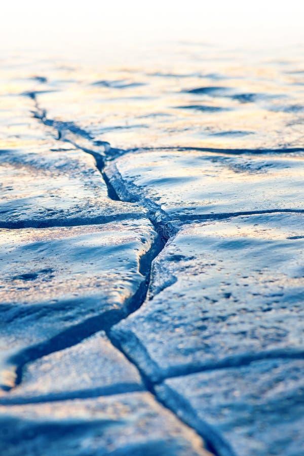 Crepa in ghiaccio fotografie stock libere da diritti